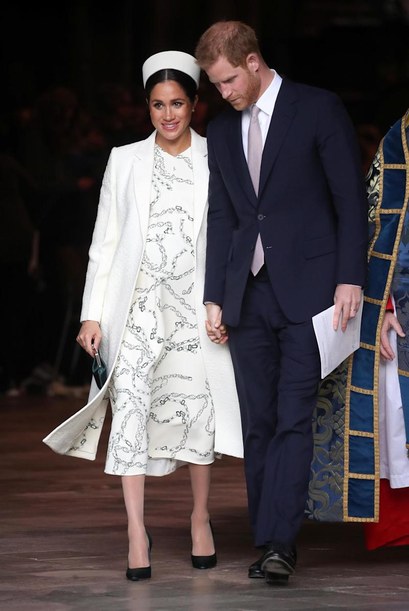 Meghan Markle wearing Victoria Beckham on Commonwealth Day 2019 (Getty Images)