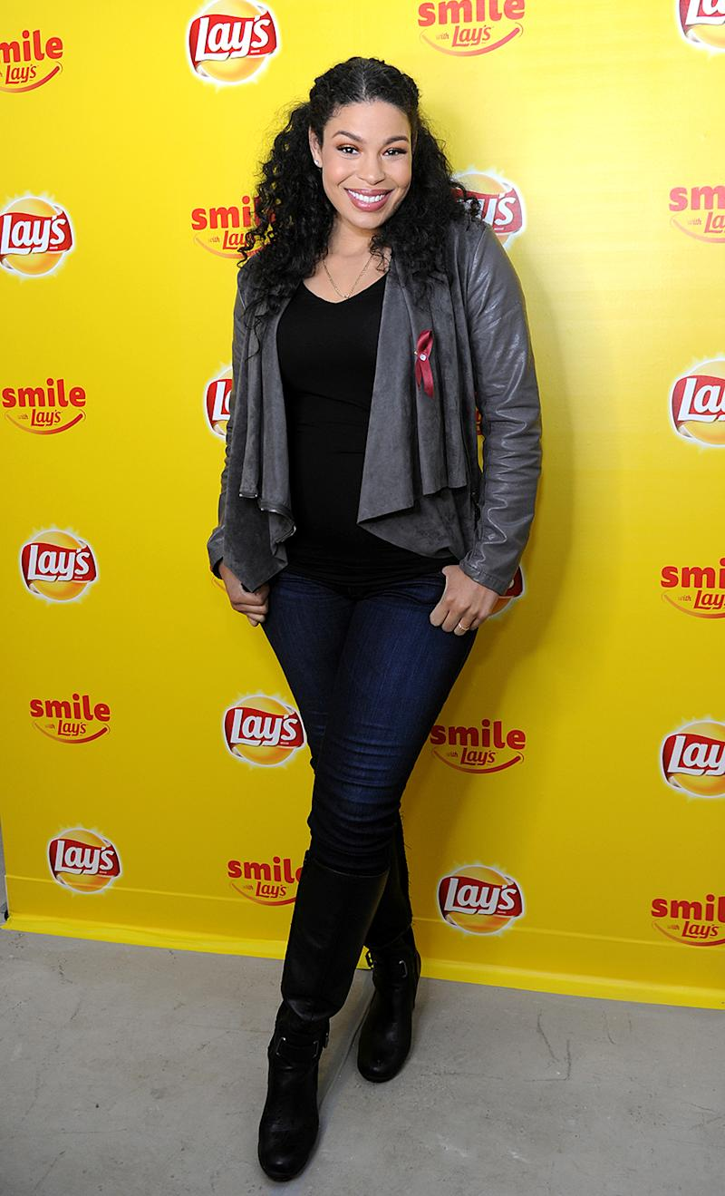 Jordin Sparks will be one happy mama. (Photo: Diane Bondareff/AP Images for Lay's)
