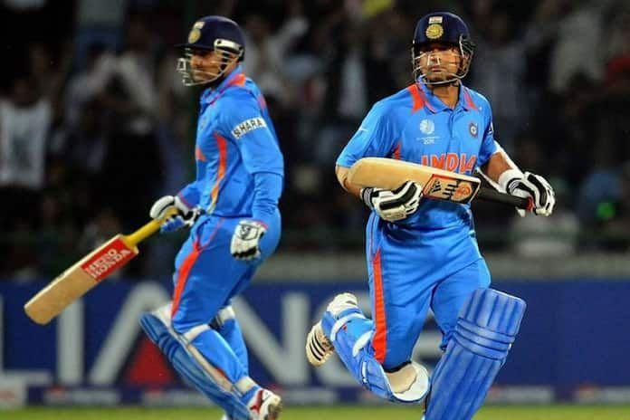 Virender Sehwag and Sachin Tendulkar opened for India in the 2011 World Cup