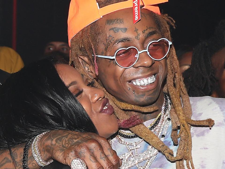 Lil Wayne and Carter in 2018 (Getty Images for Young Money Rec)