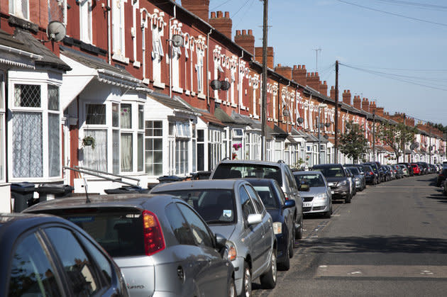 A terraced street in Sparkbrook.
