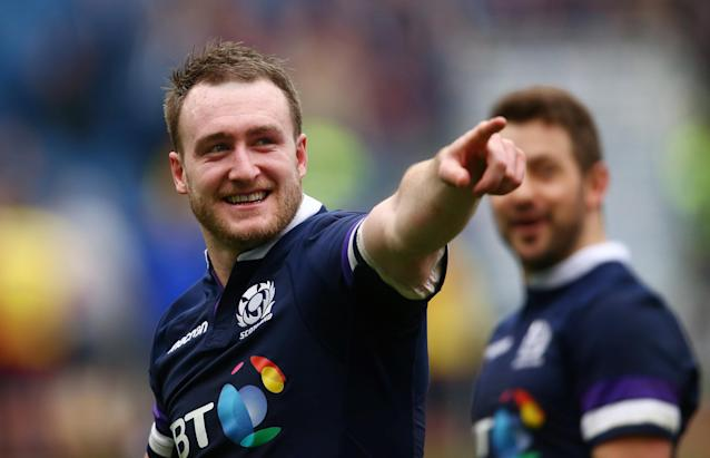 Rugby Union - Six Nations Championship - Italy vs Scotland - Stadio Olimpico, Rome, Italy - March 17, 2018 Scotland's Stuart Hogg celebrates at the end of the match REUTERS/Alessandro Bianchi