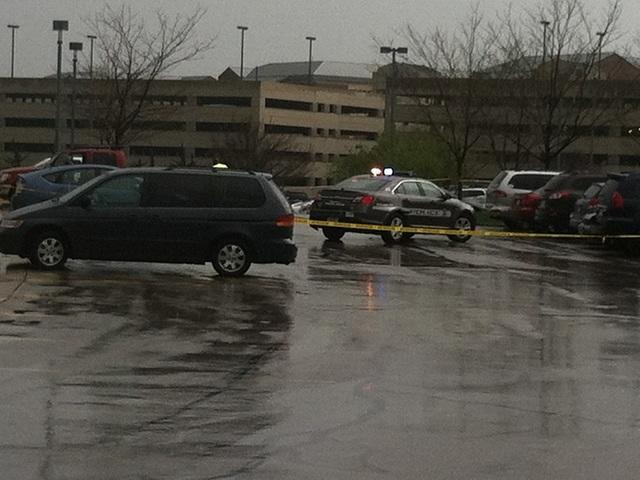 In this photo provided by KSHB41 Action News, authorities respond the Jewish community center after a shooting in Overland Park, Kan., Sunday, April 13, 2014. (AP Photo/KSHB41 Action News) MANDATORY CREDIT; NO SALES