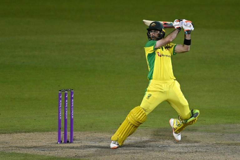 Australia's Glenn Maxwell on his way to a century in a stunning three-wicket win over England in the 3rd ODI at Old Trafford
