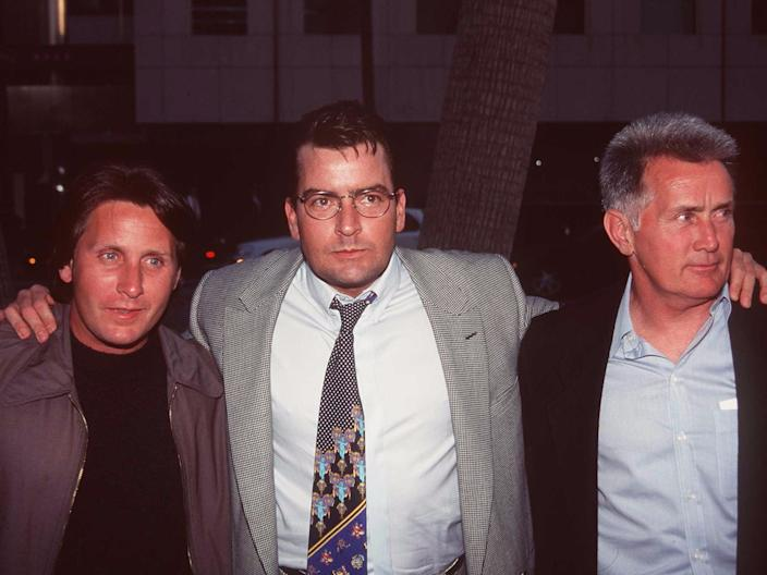 charlie and martin sheen with emilio esteves