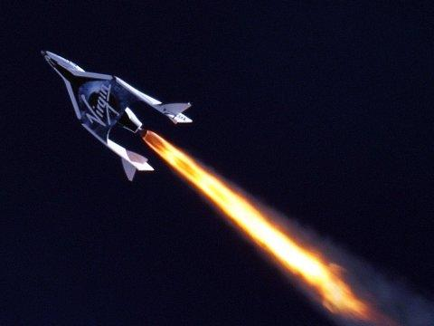 SpaceShipTwo's First Supersonic Flight.