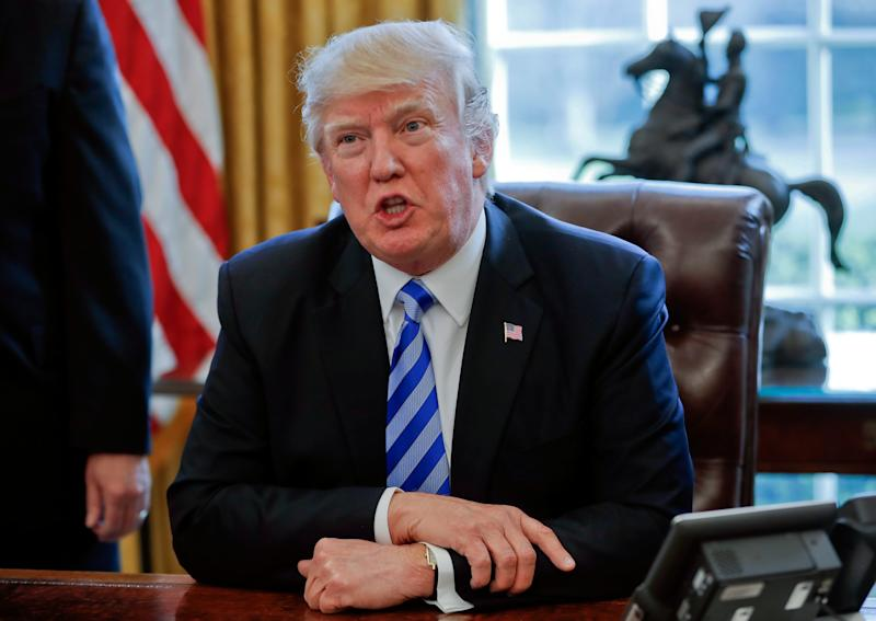 Donald Trump called reporters to say he was pulling the healthcare bill - Copyright 2017 The Associated Press. All rights reserved.