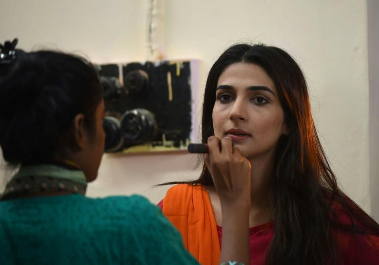 Pakistani actress Rubab Hashim stars in drama serial 'Mein Maa Nahi Banna Chahti' (I Don't Want To Become A Mother) -- one of a wave of soap operas in Pakistan tackling issues such as domestic violence, child abuse, forced marriages and misogyny