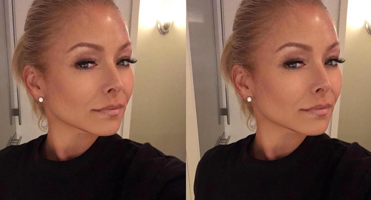 Kelly Ripa Admits To Using A Filter On Her Selfie Video