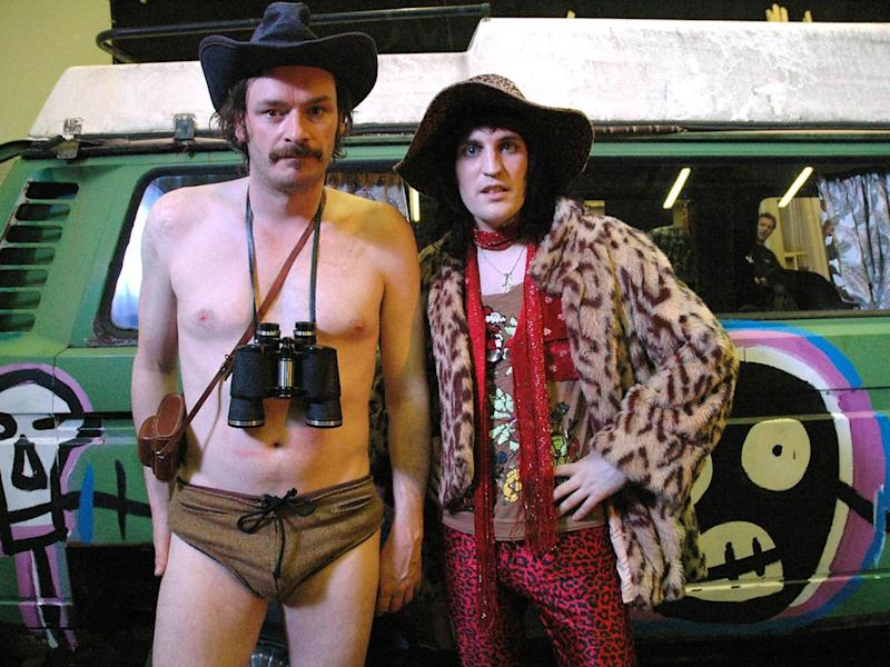 'The Mighty Boosh' duo Barratt (left) and Noel Fielding (right)
