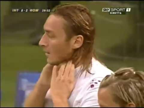<p>Cucchiaio number two.</p> <br><p>He'd score many more than that, but this goal perhaps remains one of the most famous of Totti's incredible Roma career.</p> <br><p>Picking the ball up in his own half, he managed to slalom through a series of defenders - okay, admittedly the game was a little stretched at the time - find space in front of the opposition box and lift the most ridiculous of lobs over Julio Cesar.</p>