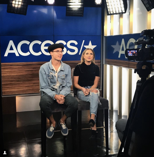 <p>Talking all things Zac & Mia with @accesshollywood! Can't wait for you guys to see it! It premieres today on Verizon's #go90! @annewinters @kianlawley (Photo: Instagram) </p>