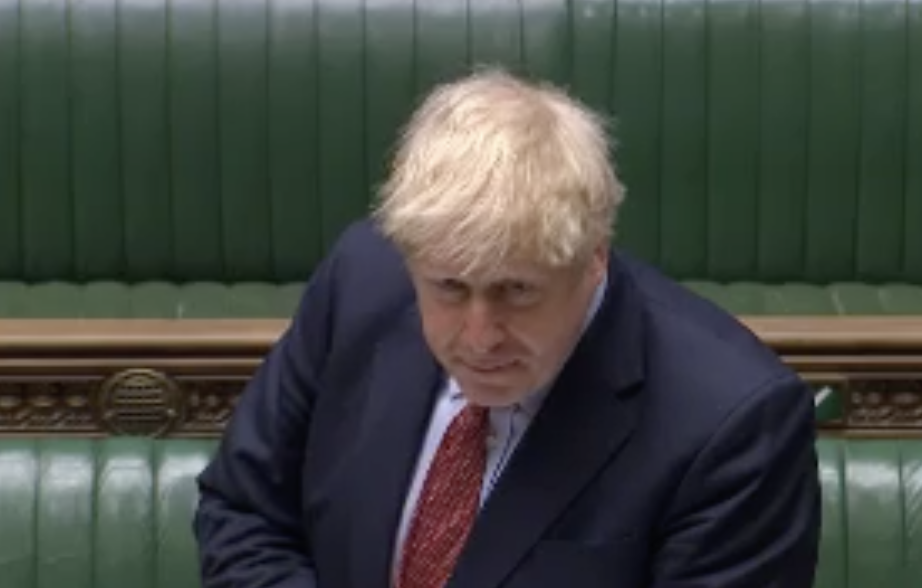 Boris Johnson refused to say whether he read a major report forecasting a 'worst-case' of 120,000 deaths. (Parliamentlive.tv)