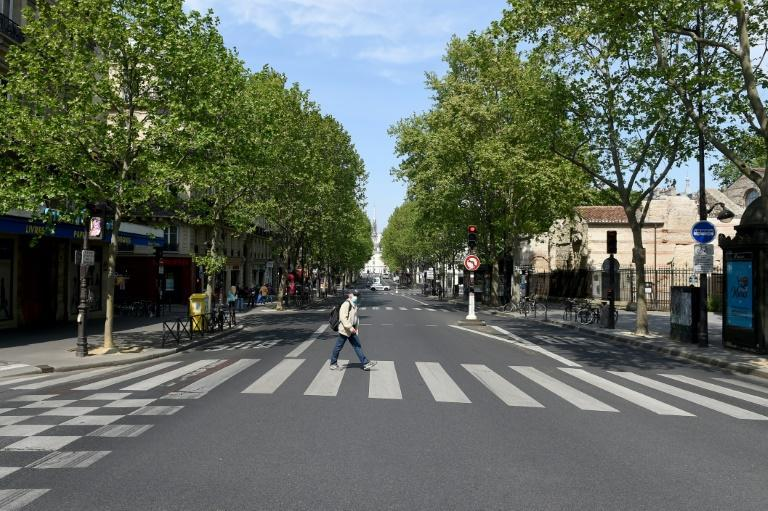 Paris' usually bustling Boulevard Saint-Michel was almost emptied for months by the coronavirus pandemic