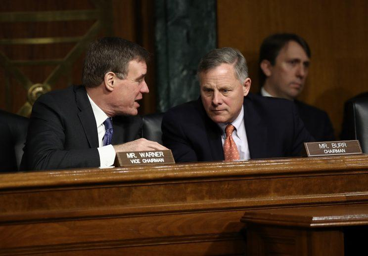 Sen. Richard Burr and Sen. Mark Warner.