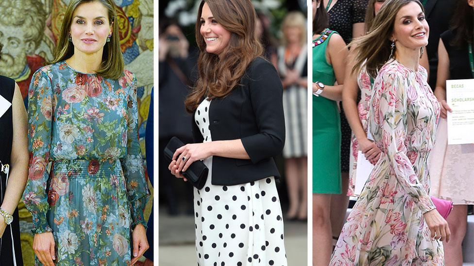 Queen Letizia and Kate Middleton's love of high street designers