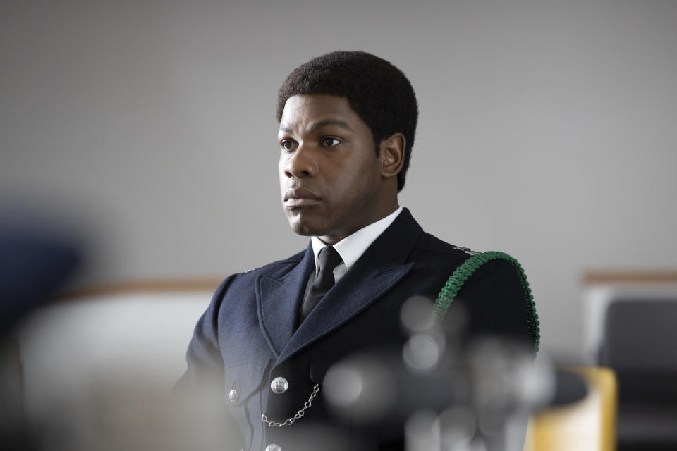 John Boyega plays police officer Leroy Logan in Steve McQueen's 'Small Axe: Red White and Blue' (Photo: Will Robson-Scott/Amazon Prime Video)