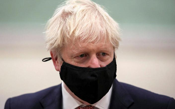 Boris Johnson is in self-isolation after being notified by NHS Test and Trace that he came into contact with a person who tested positive for Covid-19 - Molly Darlington/Pool/AP