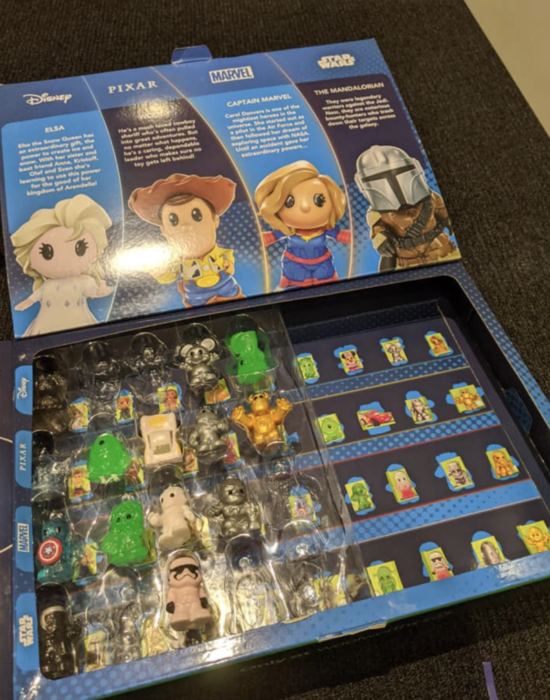 Ooshies pictured in a collector's box.