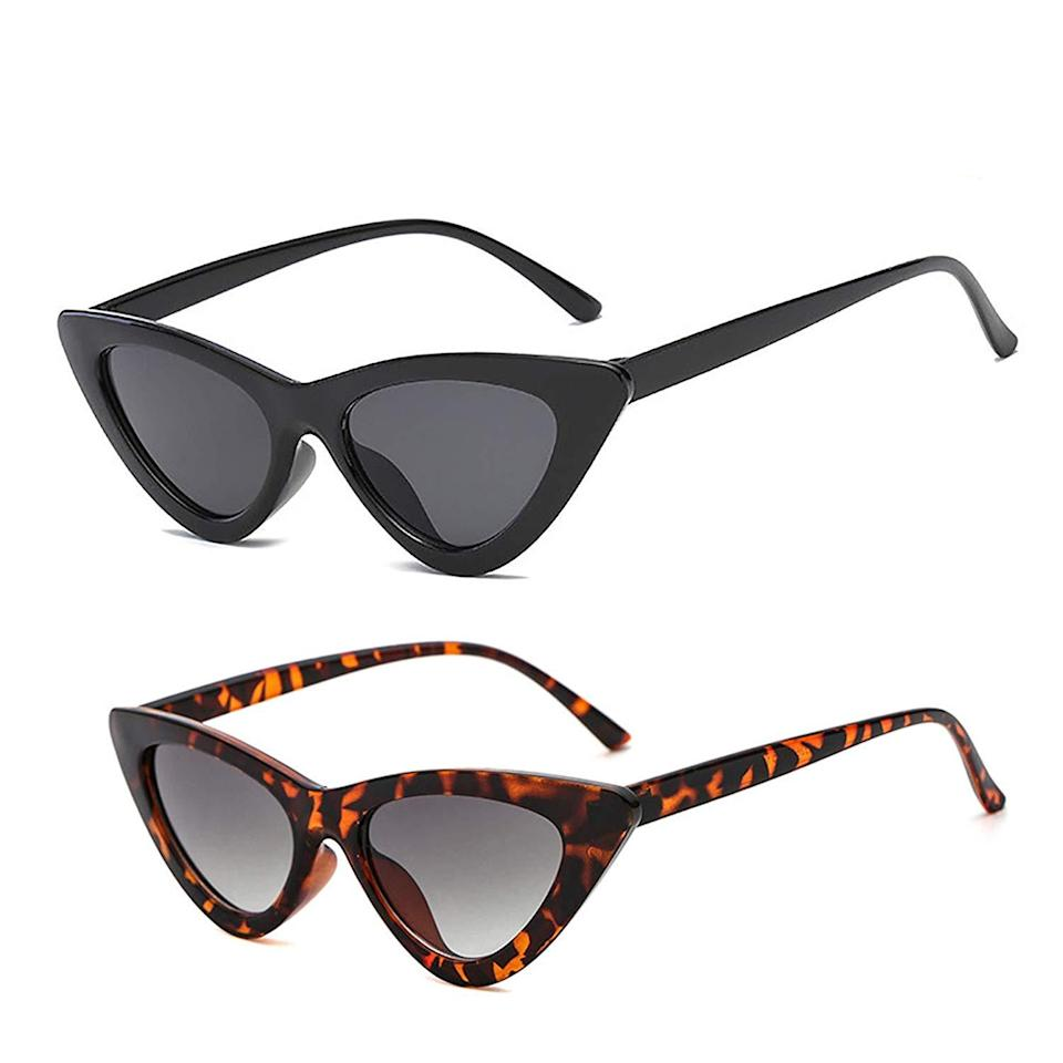 """<h3><a href=""""https://amzn.to/38F8epw"""" rel=""""nofollow noopener"""" target=""""_blank"""" data-ylk=""""slk:Cat-Eye Sunglasses"""" class=""""link rapid-noclick-resp"""">Cat-Eye Sunglasses</a></h3><br><strong>Marissa</strong><br><br><strong>How She Discovered It:</strong> """"In a Refinery29 story that I researched and wrote. Hi, hello, yes, I work here.""""<br><br><strong>Why It's A Hidden Gem:</strong> """"I have finally accepted that I'm a serial loser of sunglasses. After my favorite pair of Céline sunnies — that I owned all of one (!) year — disappeared into thin air, I said, never again. No longer will I spend money on an item that I can't trust myself to keep track of even if said item is perched on my head. These cat-eye sunnies are cheap and light. The lens quality is meh but they are so cute and fit every face that tries them on — even my own little head, as exhibited in this <a href=""""https://www.instagram.com/p/BxS1yZfgg56/"""" rel=""""nofollow noopener"""" target=""""_blank"""" data-ylk=""""slk:selfie"""" class=""""link rapid-noclick-resp"""">selfie</a> with Amazon shades. If/when I lose these sunglasses I will buy another pair and feel good that the person who finds them will hopefully enjoy them too.<br><br><strong>YOSHYA</strong> Retro Cat-Eye Sunglasses (Pack of 2), $, available at <a href=""""https://amzn.to/2Mwid6I"""" rel=""""nofollow noopener"""" target=""""_blank"""" data-ylk=""""slk:Amazon"""" class=""""link rapid-noclick-resp"""">Amazon</a>"""