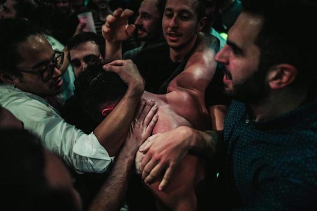 """Enki Bilal, a comic book writer who depicted the idea 27 years ago, says chessboxing """"blends all the human qualities, and there are precious few sports which do that"""" (AFP Photo/LUCAS BARIOULET)"""