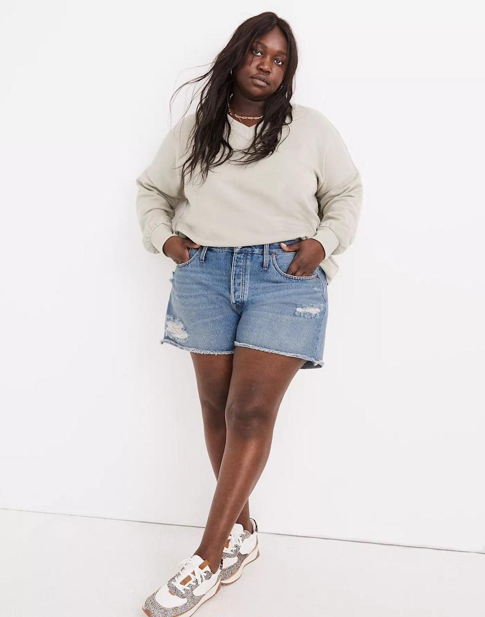<p>If you love ripped denim, go with these <span>Madewell Relaxed Denim Shorts</span> ($75).</p>