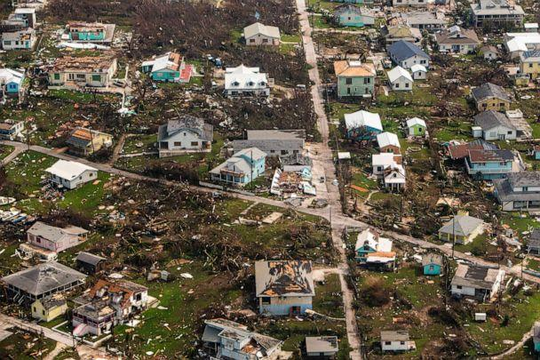 PHOTO: An aerial view of destroyed structures on the Abaco Islands in the Bahamas after Hurricane Dorian swept through the area, on Wednesday, Sept. 4, 2019. (Scott Mcintyre/The New York Times via Redux)