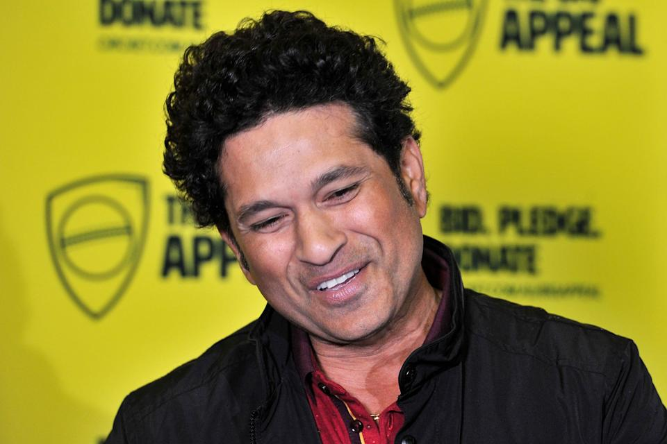 Former Indian cricketer Sachin Tendulkar talks to media at Sydney Cricket Ground in Sydney on February 7, 2020. - Tendulkar will coach Australia's Ponting XI team for an upcoming charity match for the bushfire recovery against Gilchrist XI on February 9, 2020 at Junction Oval in Melbourne. (Photo by Mohammed Farooq / AFP) / -- IMAGE RESTRICTED TO EDITORIAL USE - STRICTLY NO COMMERCIAL USE -- (Photo by MOHAMMED FAROOQ/AFP via Getty Images)