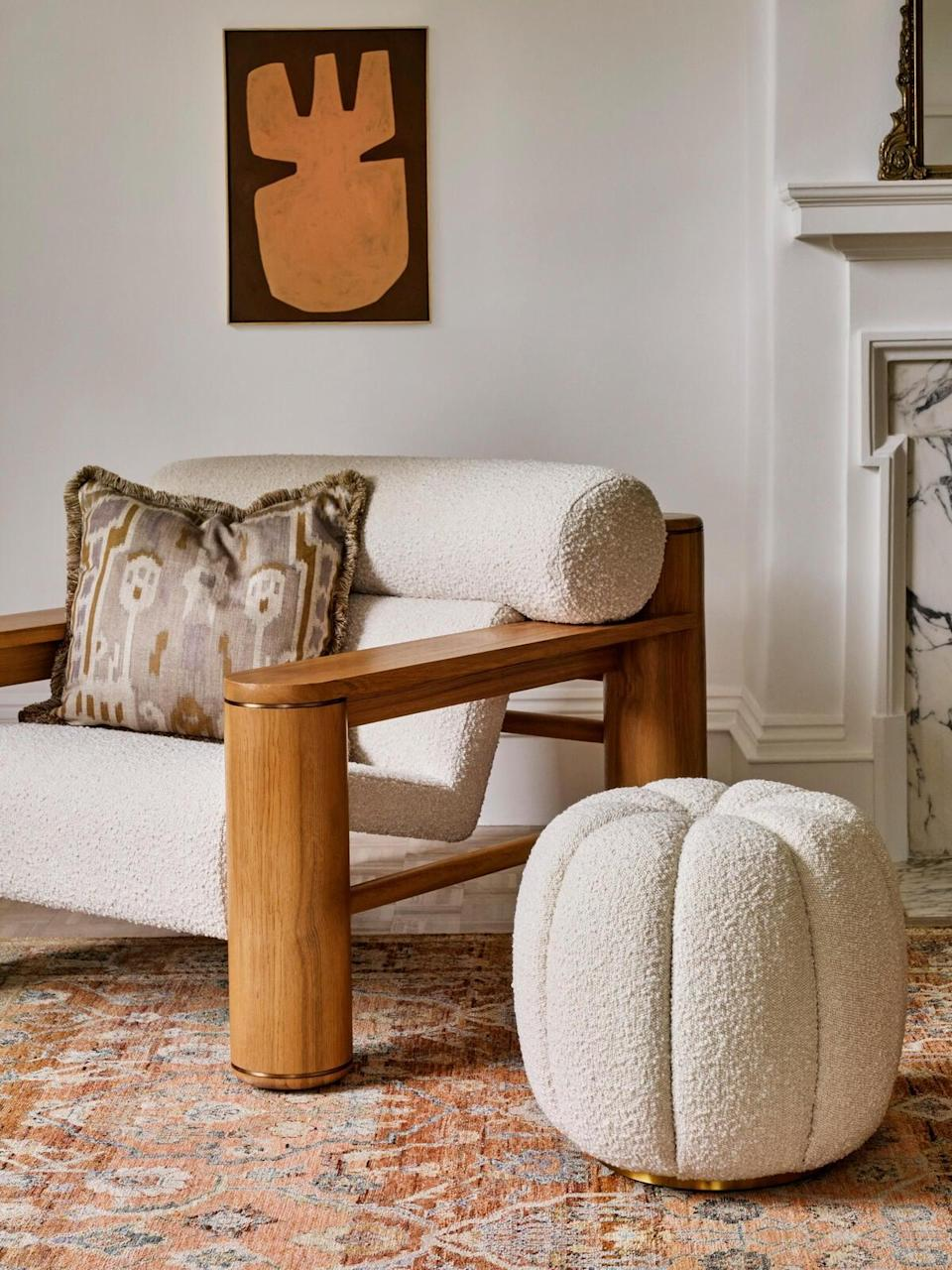 <p>Make this <span>Sofia Footstool</span> ($595) a chic addition to your living room.</p>