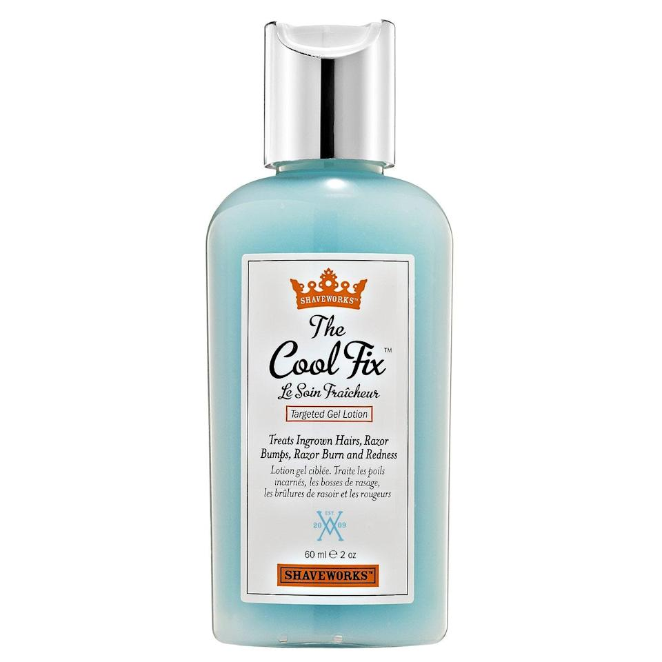 "<h3>Shaveworks The Cool Fix</h3> <br>This fixer-upper has all the AHAs and BHAs you need to keep your bikini area smooth, plus a soothing complex that calms irritation.<br><br><strong>Shaveworks</strong> The Cool Fix, $, available at <a href=""https://go.skimresources.com/?id=30283X879131&url=https%3A%2F%2Fwww.sephora.com%2Fproduct%2Fthe-cool-fix-P238412"" rel=""nofollow noopener"" target=""_blank"" data-ylk=""slk:Sephora"" class=""link rapid-noclick-resp"">Sephora</a><br>"