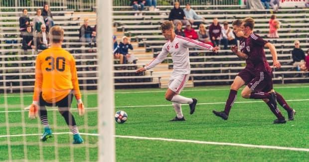 Jacob Grant of St. John's is drawing the interest of professional clubs in the Canadian Premier League. (Submitted by Ally Wragg - image credit)