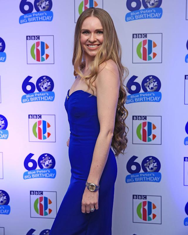 Salmon attends Blue Peter's 60th anniversary in Salford. Getty Images)