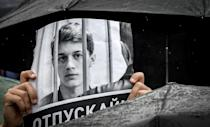 Yegor Zhukov, in jail awaiting trial, was due to begin fourth-year studies at the prestigious Moscow Higher School of Economics (HSE) (AFP Photo/Yuri KADOBNOV)