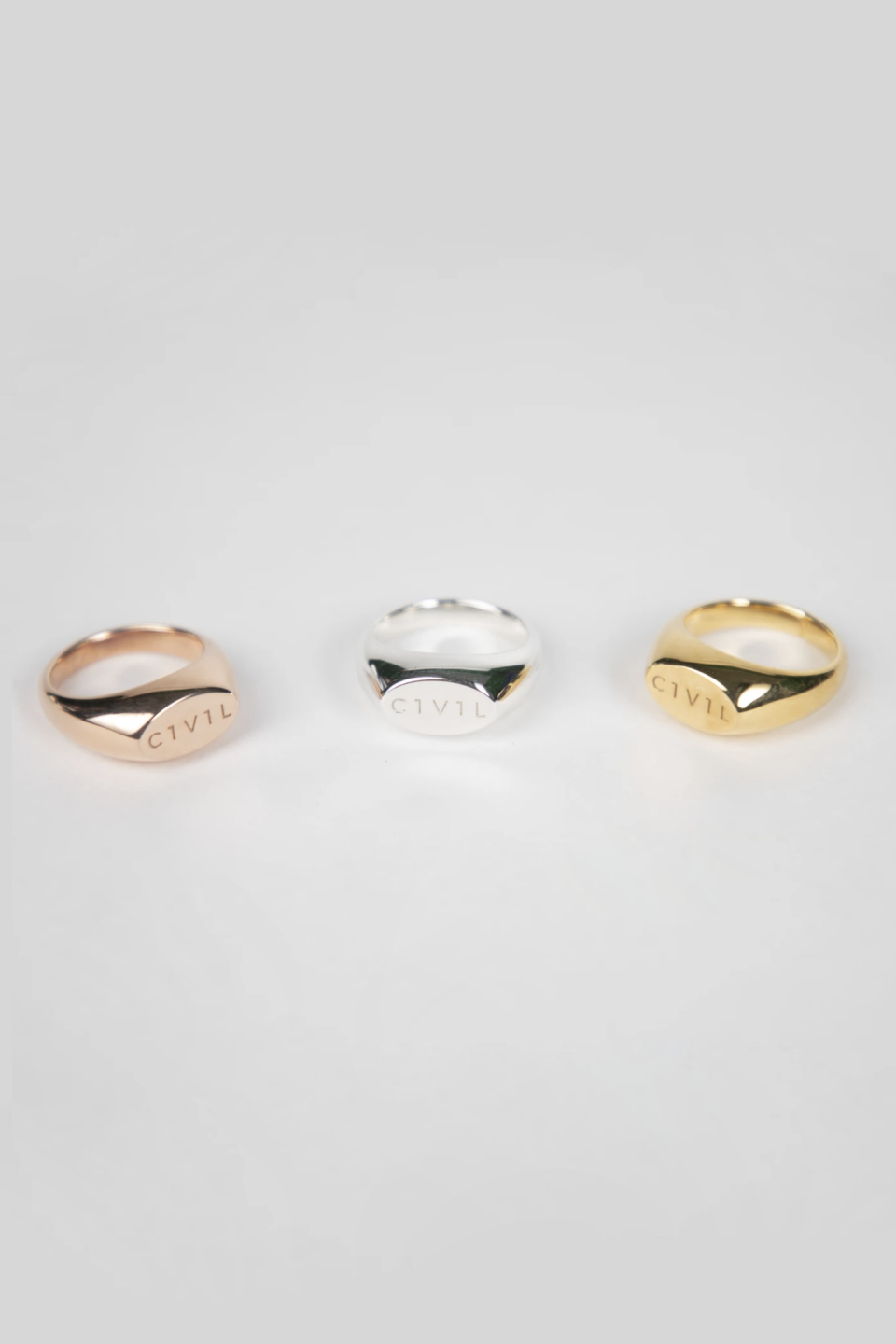 """<p><strong>Civil Jewelry </strong></p><p>civiljewelry.com</p><p><strong>$80.00</strong></p><p><a href=""""https://civiljewelry.com/collections/civil/products/small-signet-ring"""" rel=""""nofollow noopener"""" target=""""_blank"""" data-ylk=""""slk:SHOP IT"""" class=""""link rapid-noclick-resp"""">SHOP IT</a></p><p>For the jewelry lover, there's nothing like receiving a new piece for her collection. This signet ring bears the label's name on it and can easily be incorporated with other items already in her jewelry box. The company gives 20 percent of its profits back to underrepresented founders and entrepreneurs. </p>"""