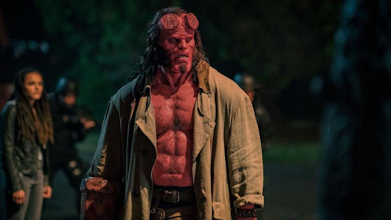 David Harbour in the title role of 2019's 'Hellboy' reboot. (Credit: Lionsgate)