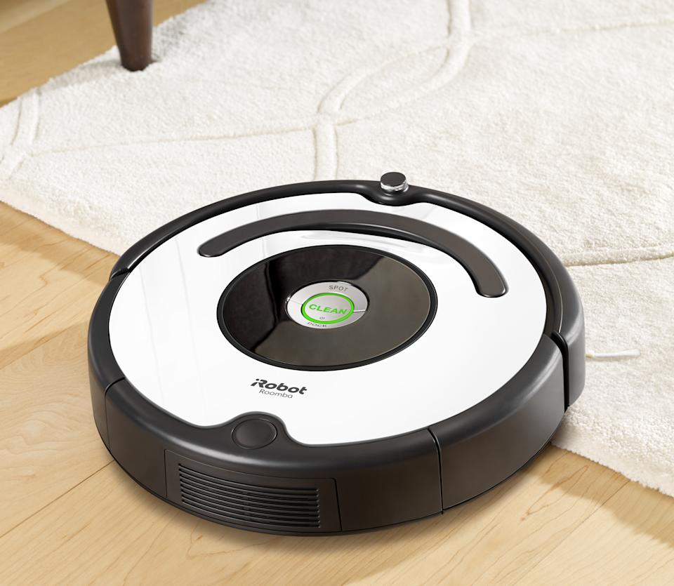 It senses the difference between wood floors and carpet, and automatically adapts. (Photo: Walmart)