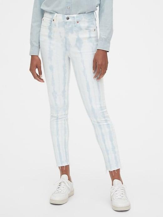 <p>Get a twist on solid denim with these light <span>Gap High Rise Tie-Dye True Skinny Jeans with Secret Smoothing Pockets</span> ($23, originally $80).</p>