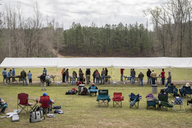 Overview at the .22 Silhouette Match in Eatonton, Ga. (Photo: Ben Rollins for Yahoo News)