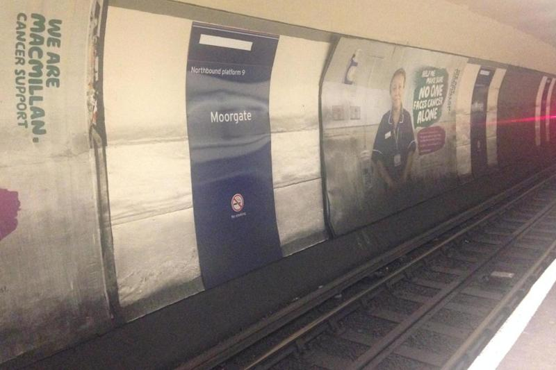 Moorgate is on the Great Northern route running past Arsenal FC's ground in north London.