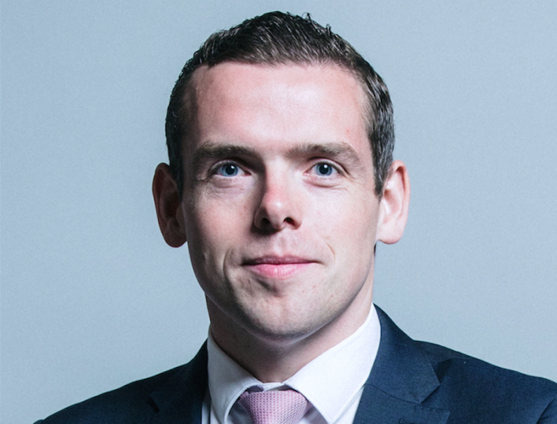 Douglas Ross has resigned as a government minister (PA)
