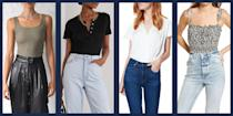 """<p>We have all been there at one point or another: you have the cutest outfit in mind, but when you go to <a href=""""https://www.townandcountrymag.com/style/fashion-trends/g28904847/best-white-button-down-shirts/"""" rel=""""nofollow noopener"""" target=""""_blank"""" data-ylk=""""slk:tuck your blouse"""" class=""""link rapid-noclick-resp"""">tuck your blouse</a> into your pants or <a href=""""https://www.townandcountrymag.com/style/fashion-trends/a36256169/how-to-style-miniskirts-outfits/"""" rel=""""nofollow noopener"""" target=""""_blank"""" data-ylk=""""slk:skirt"""" class=""""link rapid-noclick-resp"""">skirt</a>, it just doesn't lay right. And it goes without saying that absolutely no one wants to look lumpy. </p><p>Enter: the bodysuit. With seamless cuts meant to be worn as a base for your outfit, a good bodysuit or two can really change the game for your sartorial serve. Whether you're pairing it with jeans, dressier slacks, slips, or tulle skirts, having a classic bodysuit to start off your look will always serve you well. And did we mention, they are sexy too? Consider that an added bonus. Here, 11 of our favorite styles to layer with year round. </p>"""
