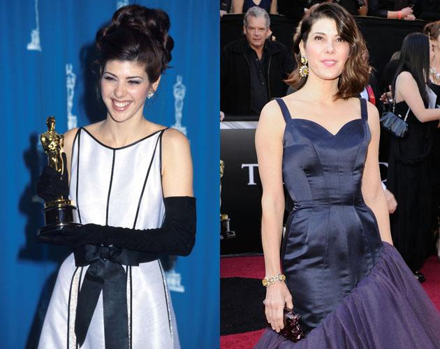 """At the 65th Oscars in 1993 Marisa Tomei won the Oscar for Best Supporting Actress for her role in """"My Cousin Vinny."""" In 2011, she attended the Oscars and looked just as stunning as she did eighteen years earlier."""