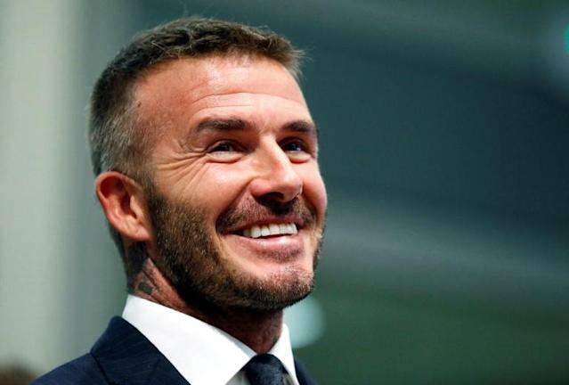 David Beckham, seen here at a July 2018 City of Miami Commissioners meeting, may have more trouble in store at his proposed Inter Miami MLS stadium site after an unfavorable environmental report (AFP Photo/RHONA WISE)