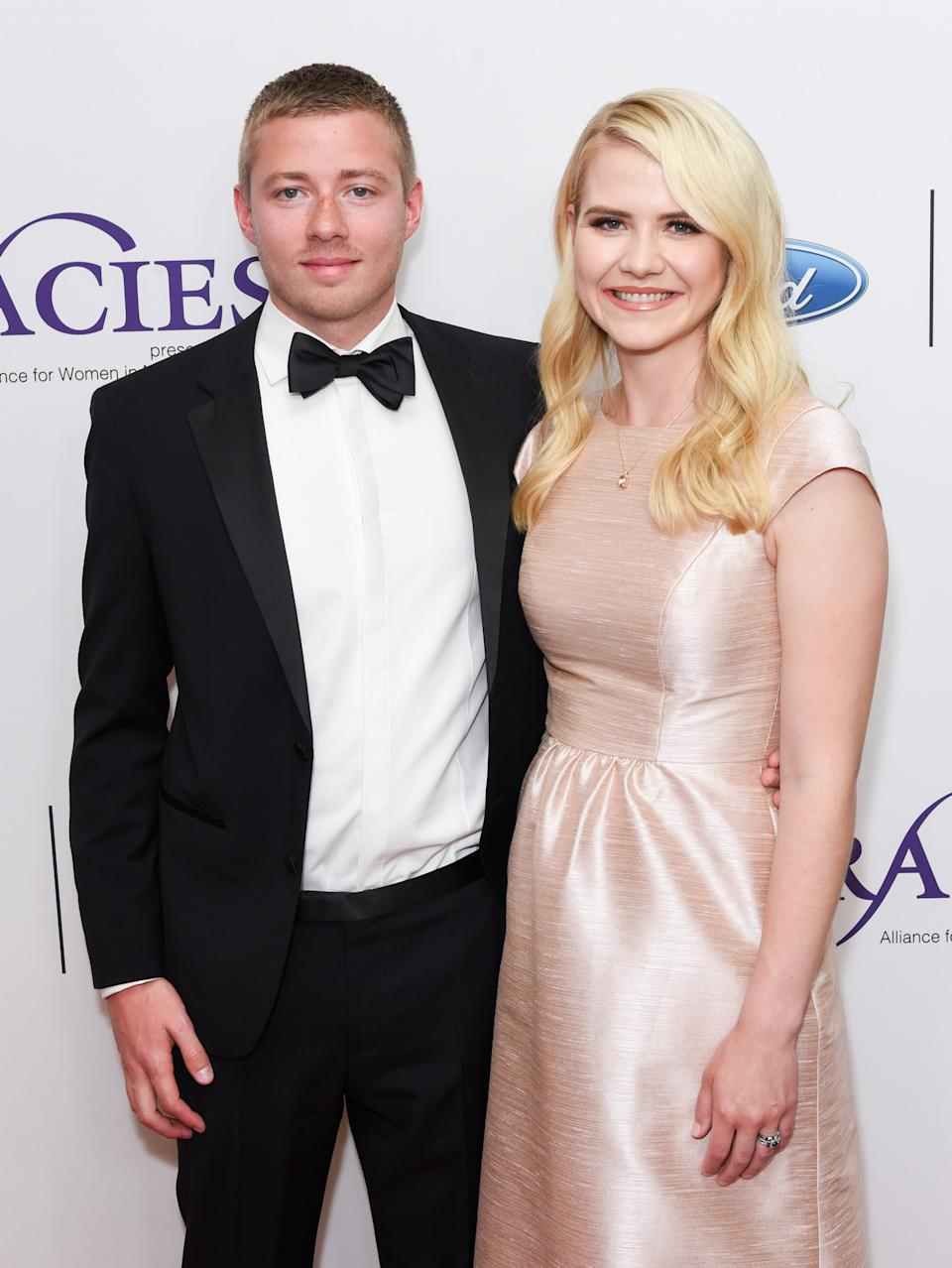 Smart and husband Matthew Gilmour.  (Photo by Presley Ann/WireImage)