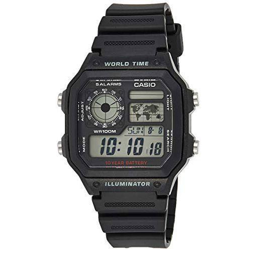 """<p><strong>Casio</strong></p><p>amazon.com</p><p><strong>$17.50</strong></p><p><a href=""""https://www.amazon.com/dp/B0094B79PA?tag=syn-yahoo-20&ascsubtag=%5Bartid%7C10054.g.12222340%5Bsrc%7Cyahoo-us"""" rel=""""nofollow noopener"""" target=""""_blank"""" data-ylk=""""slk:Buy"""" class=""""link rapid-noclick-resp"""">Buy</a></p><p>In lieu of globe-trotting travels to faraway places, here's a watch that tells the time across all seven continents. Not a bad trade-off!</p>"""
