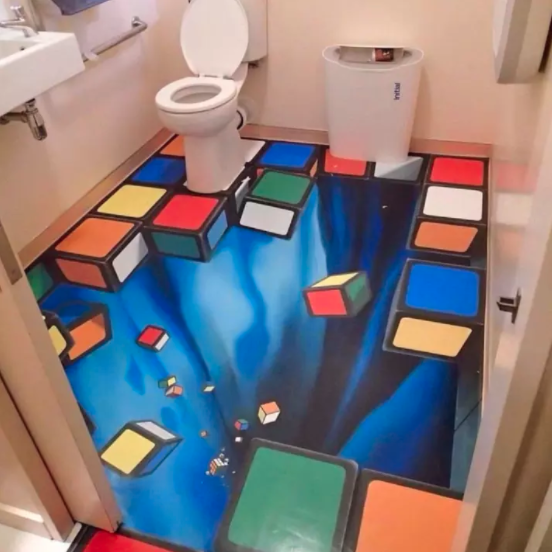 Don't know if we'd get to this toilet. Photo: Twitter