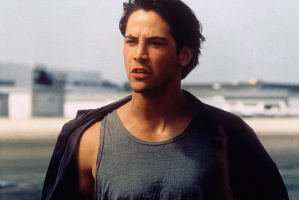 """<p>Watching any Keanu Reeves movie is always good when you're looking for an escape, but <em>Point Break</em> is especially worthy thanks to its oceanside scenery. Reeves plays an FBI agent who goes undercover and embeds himself in a group of thrill-seeking surfers in this Kathryn Bigelow–directed action flick. </p> <p><a href=""""https://www.amazon.com/Point-Break-Patrick-Swayze/dp/B00AOQ8GJ2/ref=sr_1_1?crid=3F6SX4ZFXUL4I&dchild=1&keywords=point+break&qid=1593115196&s=instant-video&sprefix=point+break%2Cinstant-video%2C152&sr=1-1"""" rel=""""nofollow noopener"""" target=""""_blank"""" data-ylk=""""slk:Available to rent on Amazon Prime Video"""" class=""""link rapid-noclick-resp""""><em>Available to rent on Amazon Prime Video</em></a></p>"""