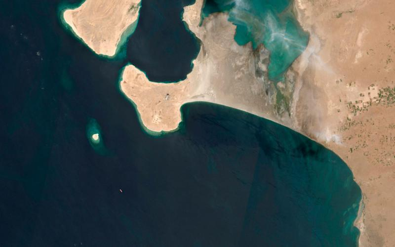 Houthi rebels are blocking the United Nations from inspecting an abandoned oil tanker moored off the coast of Yemen loaded with more than one million barrels of crude oil. - Maxar Technologies