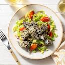 """<p><span>Sun Basket</span>'s """"carb-conscious"""" meal plans are perfect for someone who has followed keto for some time and knows what ingredients to sub in if they're not quite in line with the diet. The options are creative, too, like this sesame-crusted fish nugget salad.</p><p><a href=""""https://www.instagram.com/p/B9w857EFhlJ/"""" rel=""""nofollow noopener"""" target=""""_blank"""" data-ylk=""""slk:See the original post on Instagram"""" class=""""link rapid-noclick-resp"""">See the original post on Instagram</a></p>"""