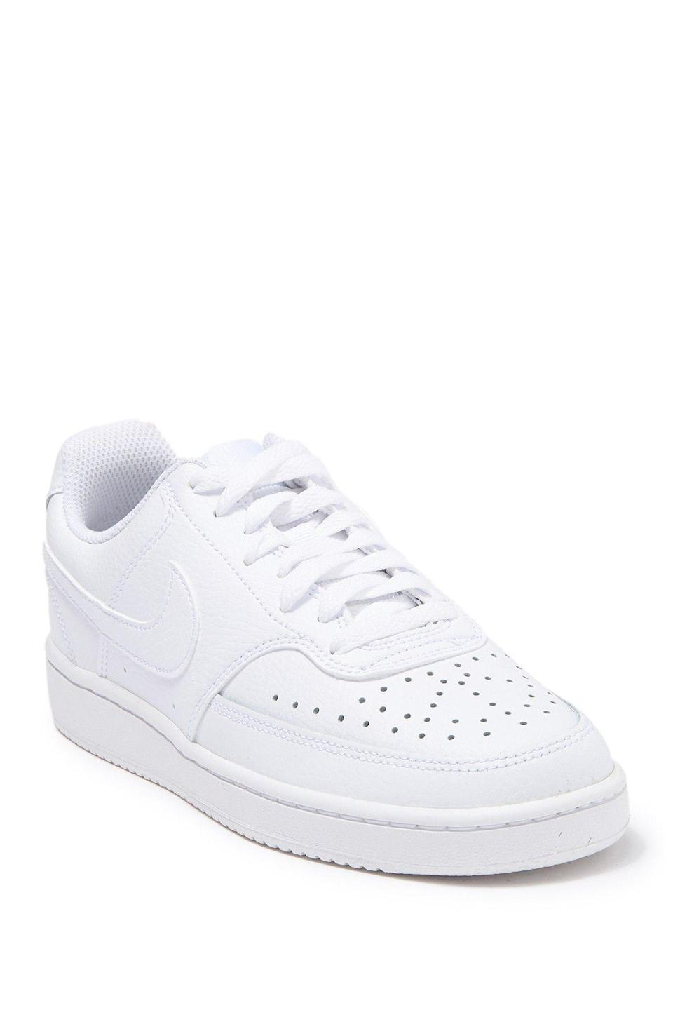 """<p><strong>Nike</strong></p><p>nordstromrack.com</p><p><a href=""""https://go.redirectingat.com?id=74968X1596630&url=https%3A%2F%2Fwww.nordstromrack.com%2Fshop%2Fproduct%2F2935982&sref=https%3A%2F%2Fwww.womenshealthmag.com%2Fstyle%2Fg33534500%2Fnordstrom-rack-nike-sale%2F"""" rel=""""nofollow noopener"""" target=""""_blank"""" data-ylk=""""slk:Shop Now"""" class=""""link rapid-noclick-resp"""">Shop Now</a></p><p><del>$65</del><strong><br>$49.97</strong></p><p>If you want to take your love of Nike outside of the gym (or, okay, your virtual workout), check out this sleek style. This pair will give your next socially distanced walk some curb appeal.</p>"""